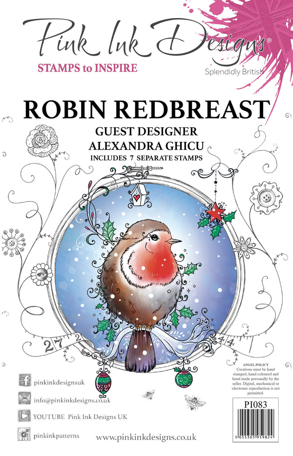 Robin Redbreast A5 Clear Stamp Set