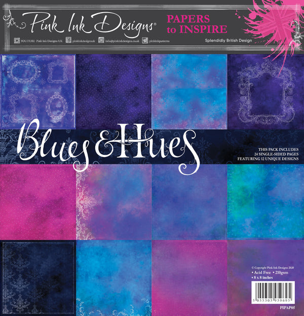 Blues & Hues  8 in x 8 in Paper Pad
