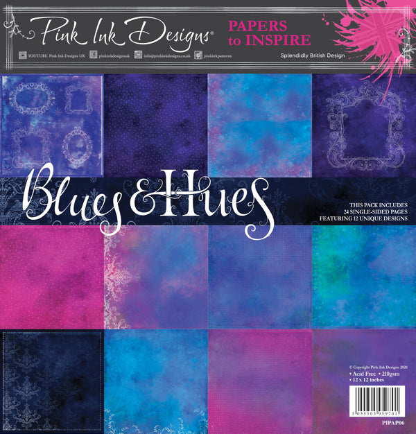 Blues & Hues  12 in x 12 in Paper Pad