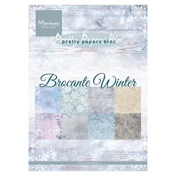 Marianne Design A5 Pretty Paper Bloc Brocante Winter
