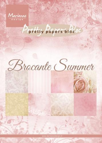 Marianne Design A5 Pretty Paper Bloc Brocante Summer