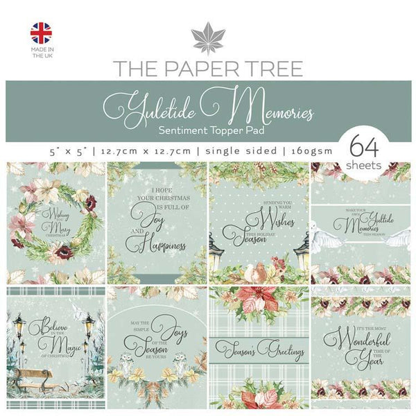 The Paper Tree Yuletide Memories 5x5 Sentiments Pad