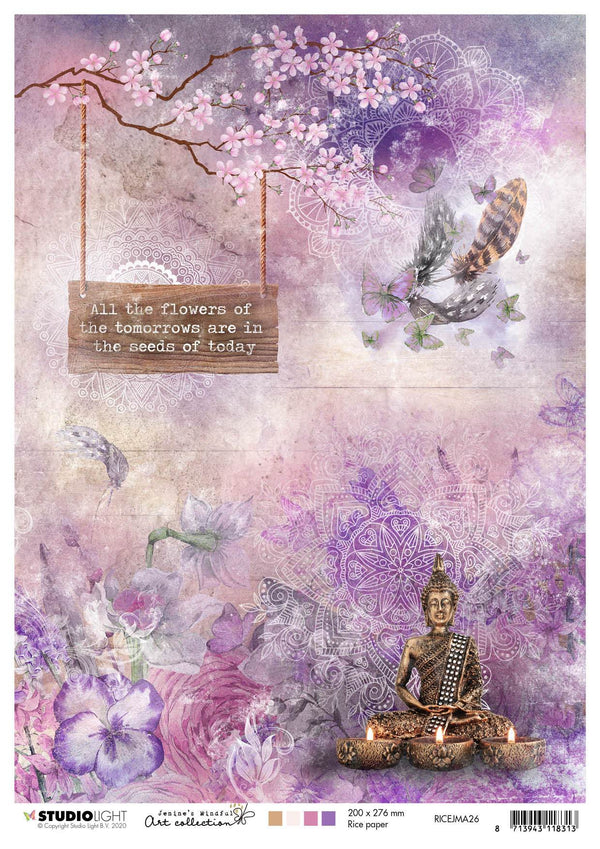Rice Paper A4 Sheet, Jenine's Mindful Art 4.0 nr.26