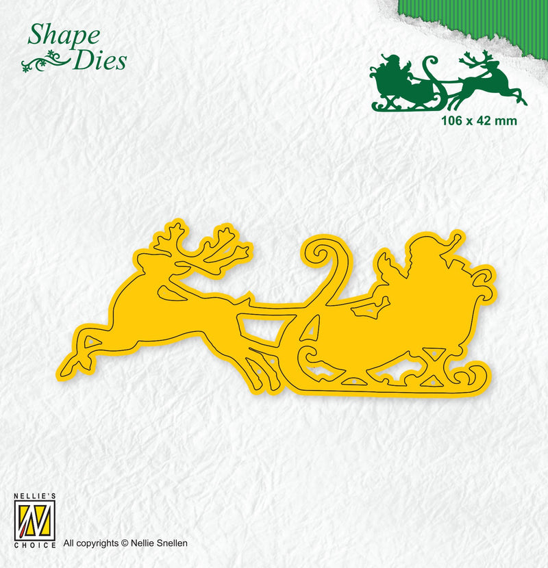Shape Die Santa in Sled
