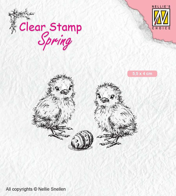 Clear Stamps Spring Chicken And Easter Egg