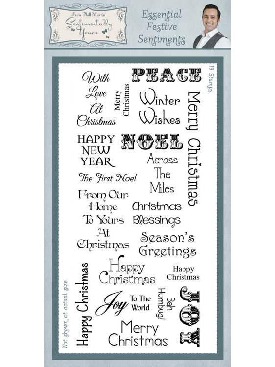 Sentimentally Yours Essential Festive Sentiments Clear Stamp Set