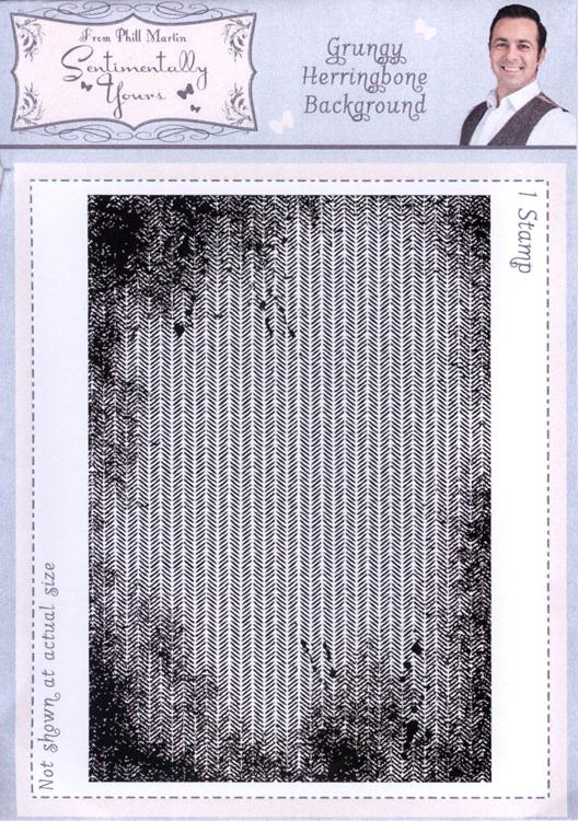 Grungy Herringbone Background Stamp