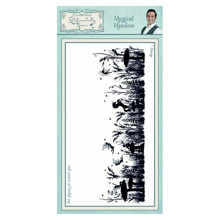 Sentimentally Yours Magical Meadow DL Pre Cut Rubber Stamp