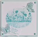 Sentimentally Yours Poppy Field DL Pre Cut Rubber Stamp