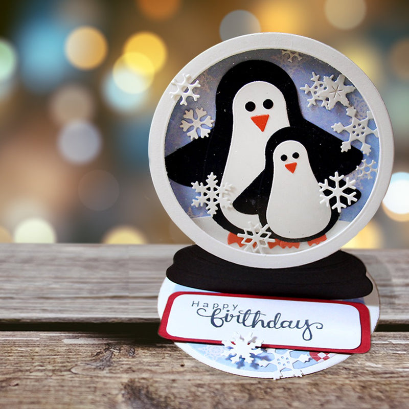 Marianne Design Collectables Penguin + Snow Globe Die Set