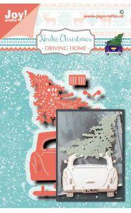 Joy! Craft Die Noor Nordic Christmas Car/Pine tree