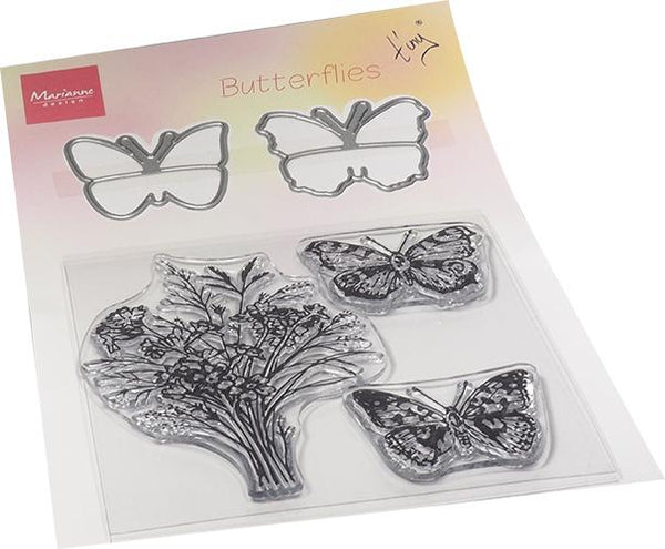 Tiny's Butterflies Stamp & Die Set