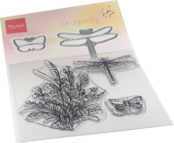Tiny's Dragonfly Stamp & Die Set