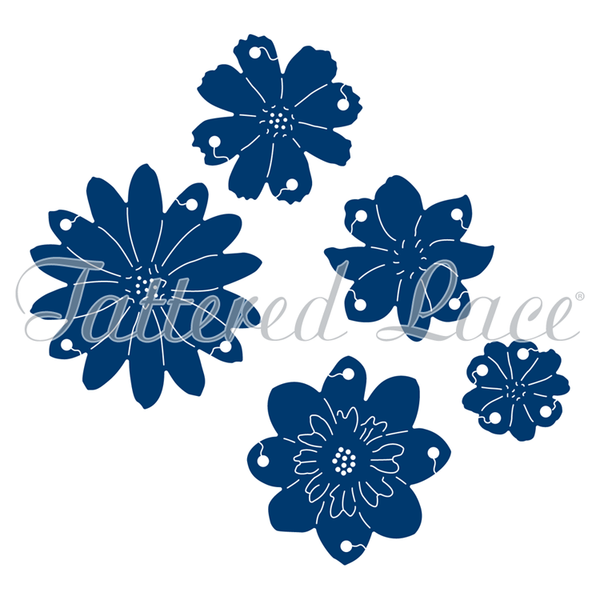 Tattered Lace Dies - Interlocking Flowers