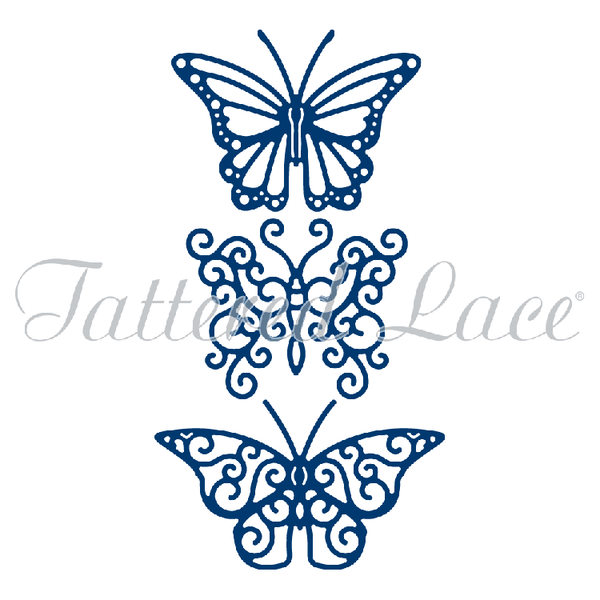 Tattered Lace Dies - Trio of Butterflies