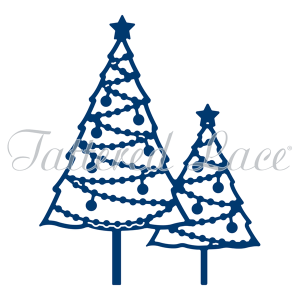 Tattered Lace Dies - Pearl Christmas Trees