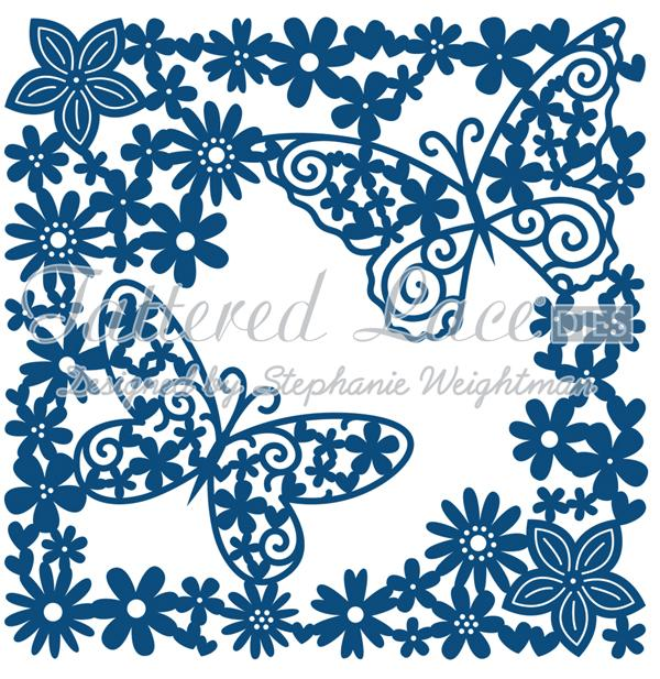 Tattered Lace Die  - Flutterby Tapestry