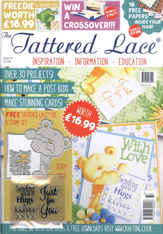 The Tattered Lace Magazine Issue #37 with FREE Die & Stamp Set