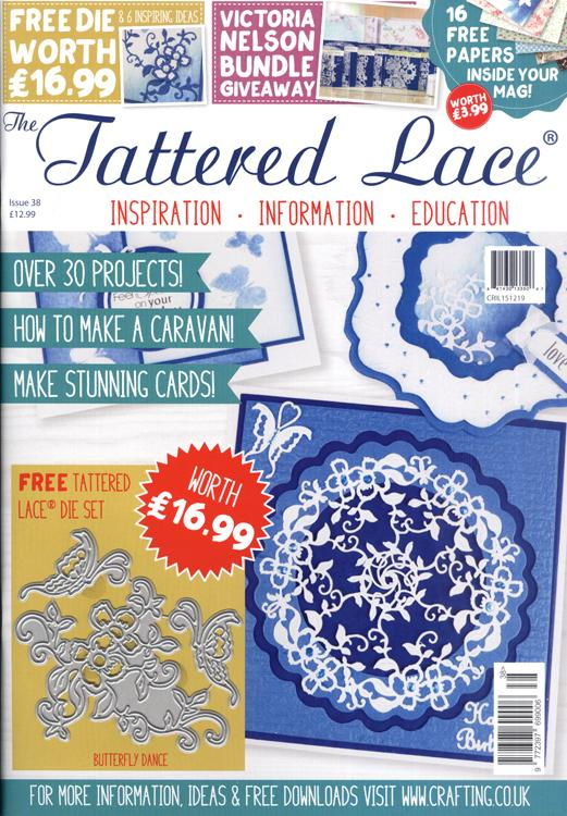 The Tattered Lace Magazine Issue #38 with FREE Die Set