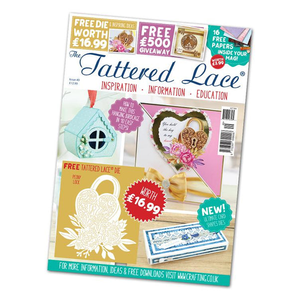 The Tattered Lace Magazine Issue #49 with FREE Die