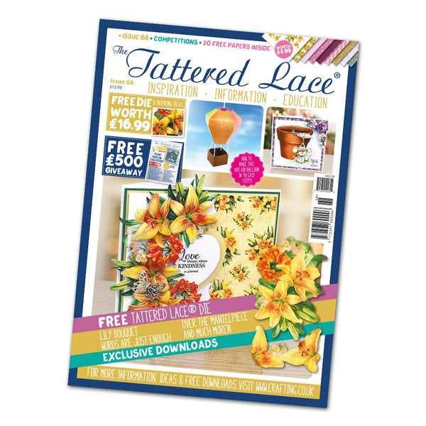 The Tattered Lace Magazine Issue #68 with FREE Die