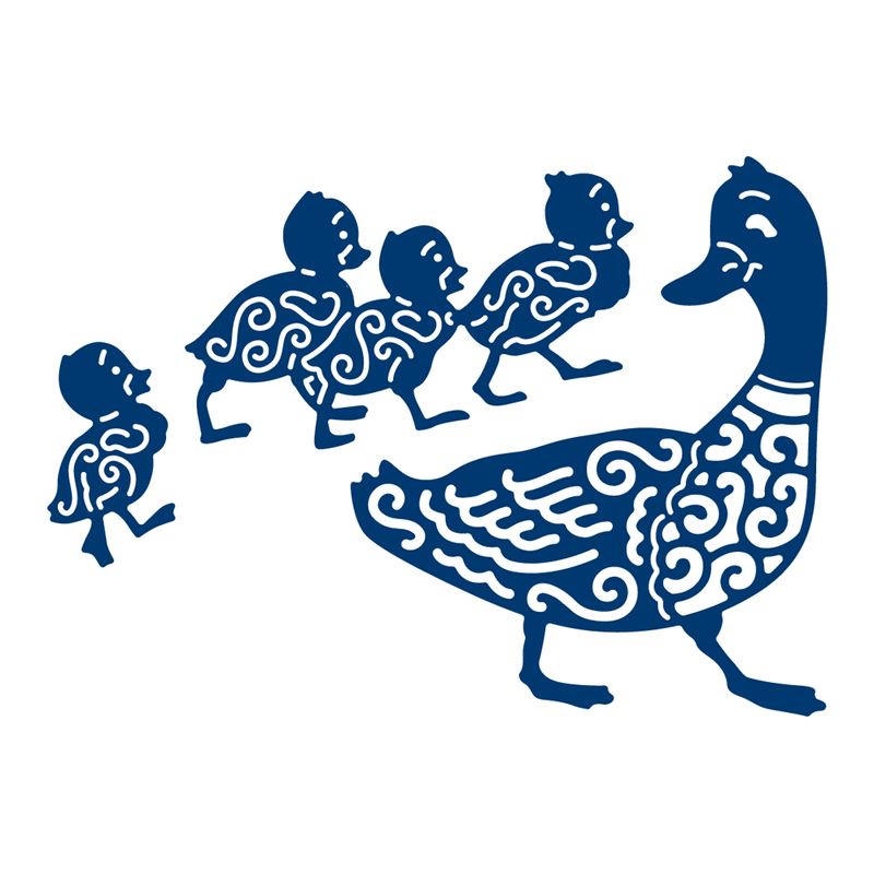 Tattered Lace Die -Mother Duck And Ducklings