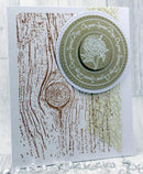 Creative Expressions Knotted Woodgrain Pre Cut Stamp