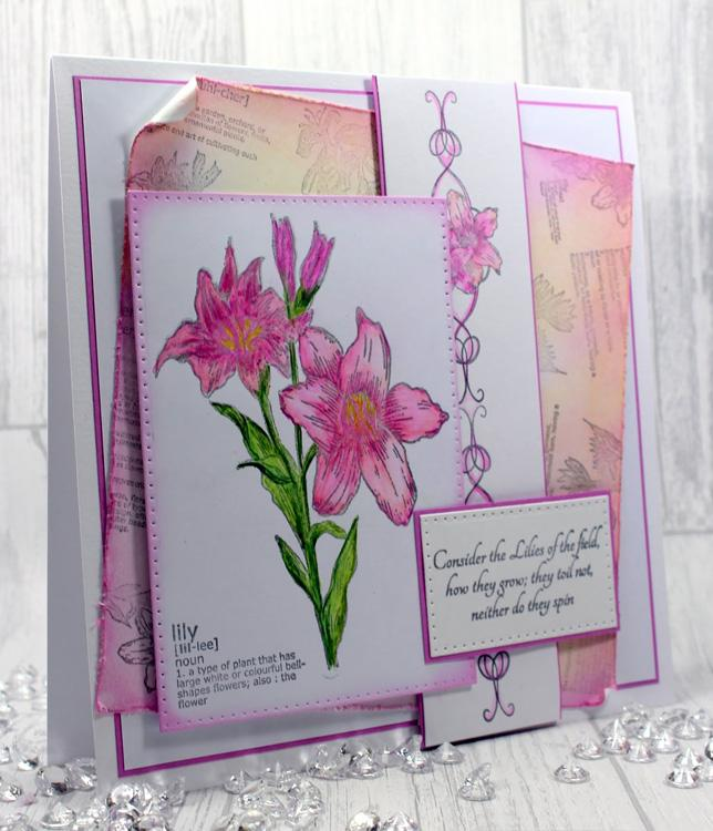 Creative Expressions: Lily Pre Cut Stamp Set