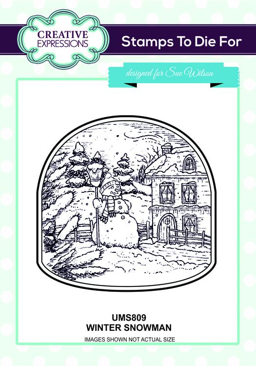 Creative Expressions Winter Snowman Pre Cut Stamp