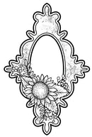 Creative Expressions Victoria's Sweet Sunflower Pre Cut Stamp