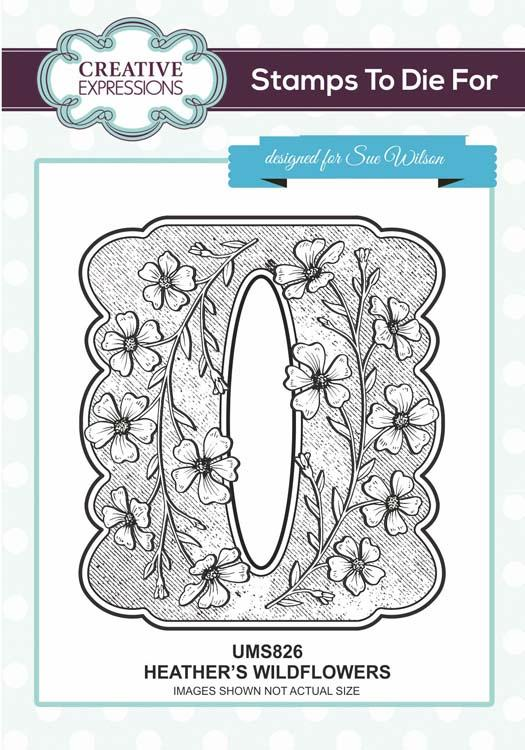 Creative Expressions Heather's Wildflowers  Stamp