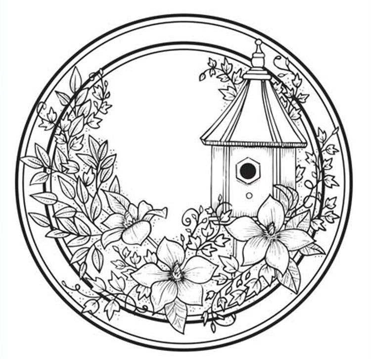 Creative Expressions My Secret Garden Circle  Stamp