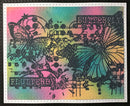 Creative Expressions Butterfly A6 Background Stamp
