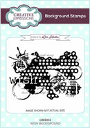 Creative Expressions Wish A6 Background Stamp
