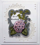 Creative Expressions Roxy's Hydrangea and Ivy  Pre-cut Stamp Set