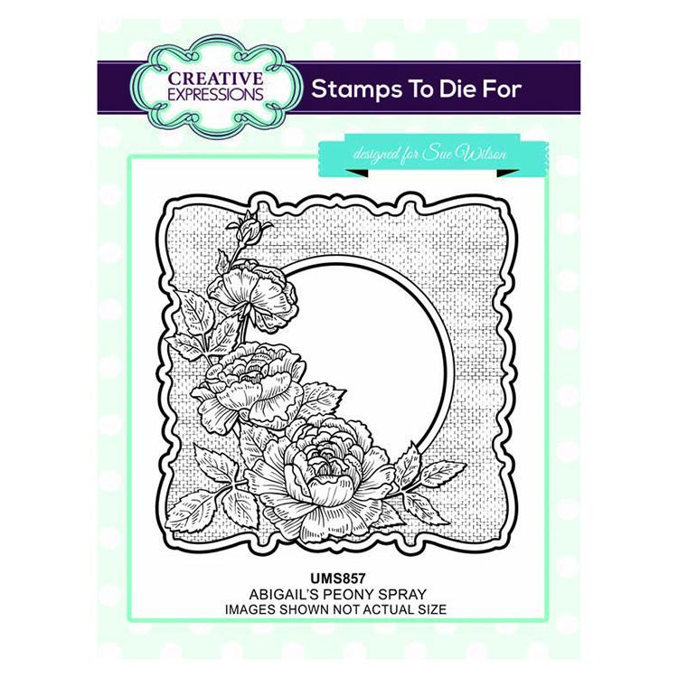 Creative Expressions Abigail's Peony Spray Pre-cut Stamp Set