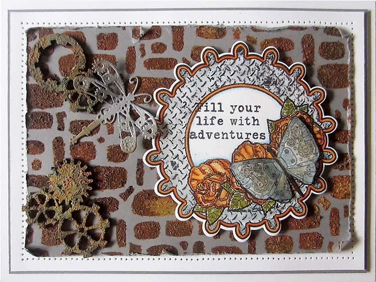 Creative Expressions Eliza's Steampunk Butterfly Pre-cut Stamp Set