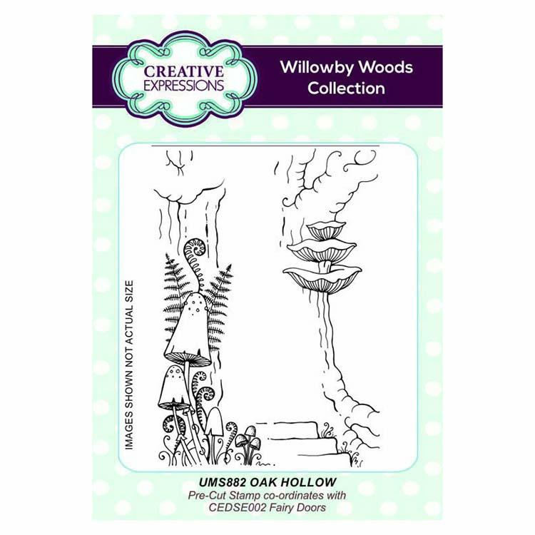 Creative Expressions Oak Hollow A6 Pre Cut Rubber Stamp