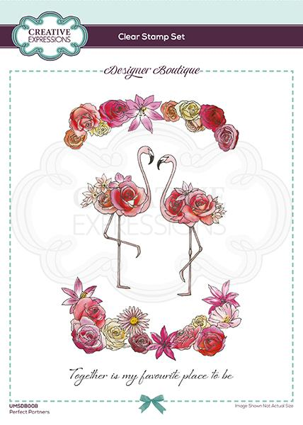Designer Boutique Collection Perfect Partners A5 Clear Stamp