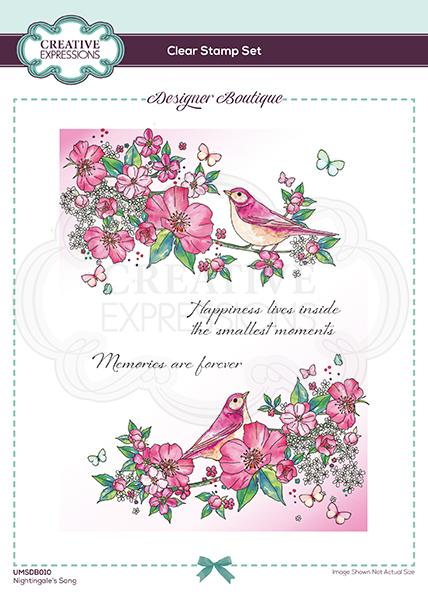 Designer Boutique Collection Nightingale's Song A5 Clear Stamp