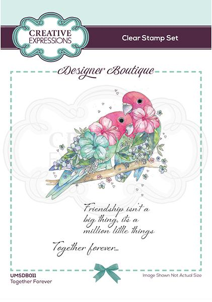 Designer Boutique Collection Together Forever A6 Clear Stamp