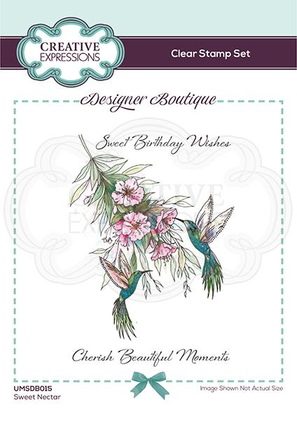 Designer Boutique Collection Sweet Nectar A6 Clear Stamp