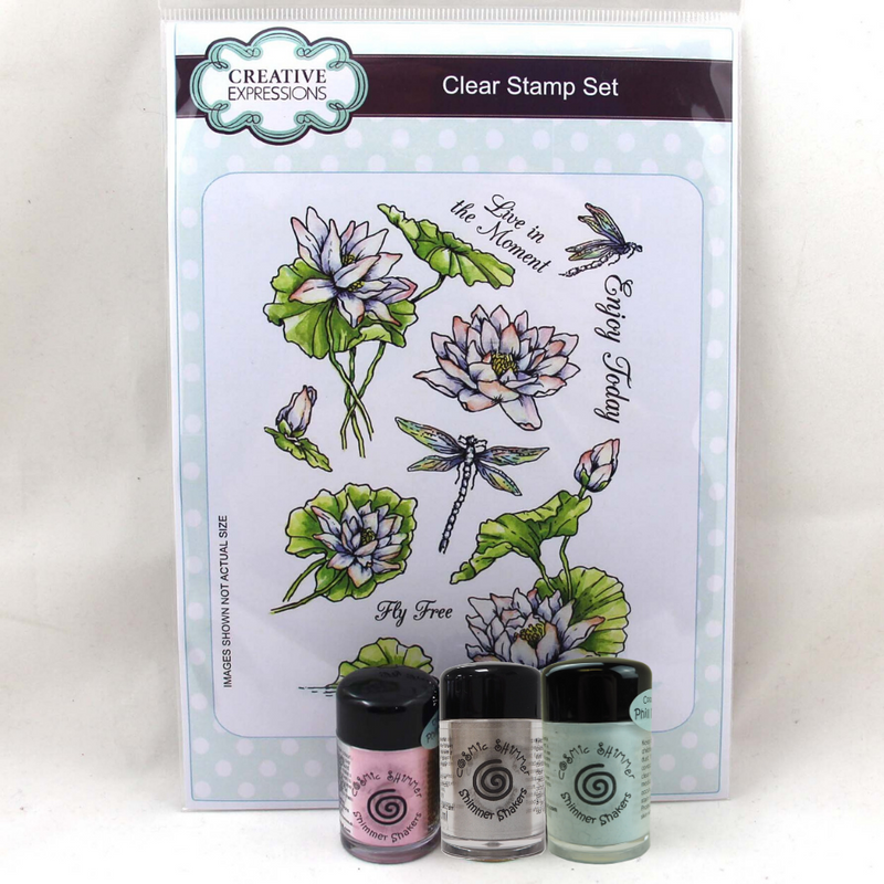 Shimmer Shaker Flower Bundle 3 - Waterlilly