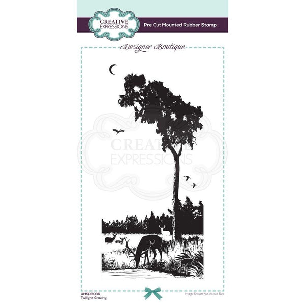 Designer Boutique Collection Twilight Grazing DL Pre Cut Rubber Stamp