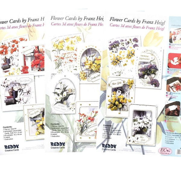 Floral Cardmaking Kit Bundle - Makes 9 Cards