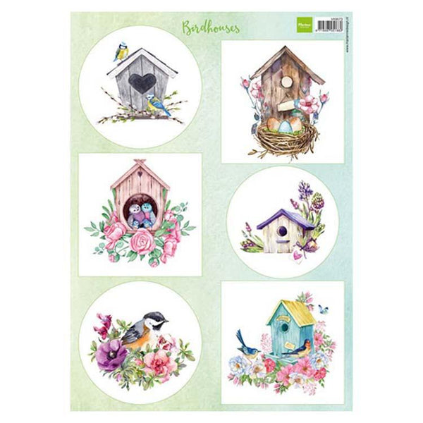 Marianne Design Cutting Sheet Birdhouses Spring