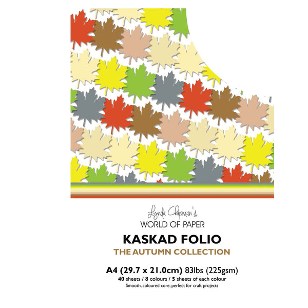 Kaskad Folio Autumn Collection A4 225gsm Coloured Core Cardstock 40 sheets