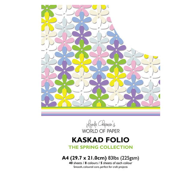 Kaskad Folio Spring Collection A4 225gsm Coloured Core Cardstock 40 sheets