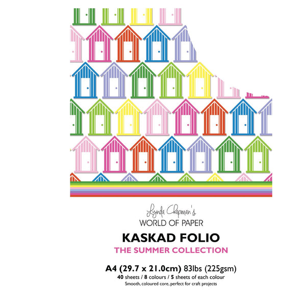 Kaskad Folio Summer Collection A4 225gsm Coloured Core Cardstock 40 sheets