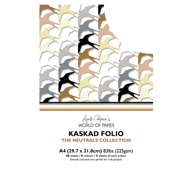 Kaskad Folio Neutrals Collection A4 225gsm Coloured Core Cardstock 40 sheets